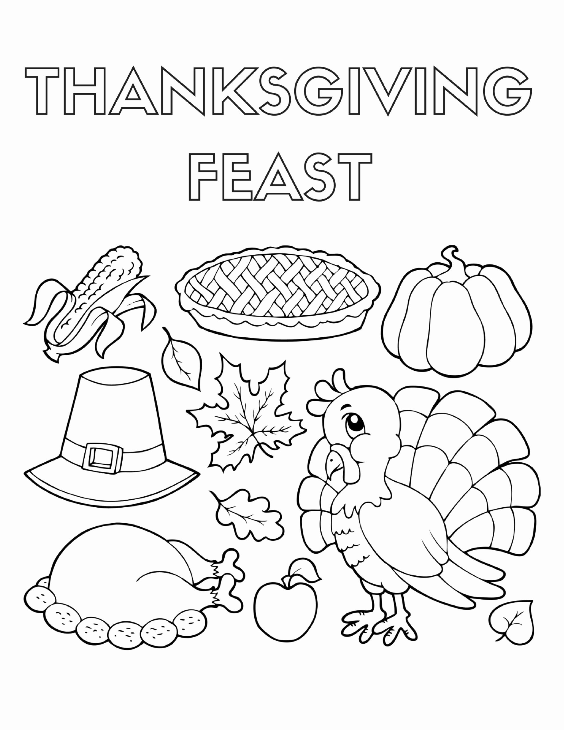 Thanksgiving Food Coloring Pages Kids Thanksgiving Coloring Pages Turkey Coloring Pages Food Coloring Pages
