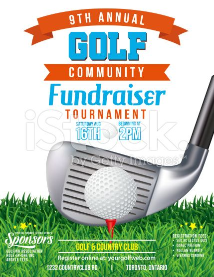 Golf Fundraiser Tournament Template There is grass at the bottom - fundraiser template free