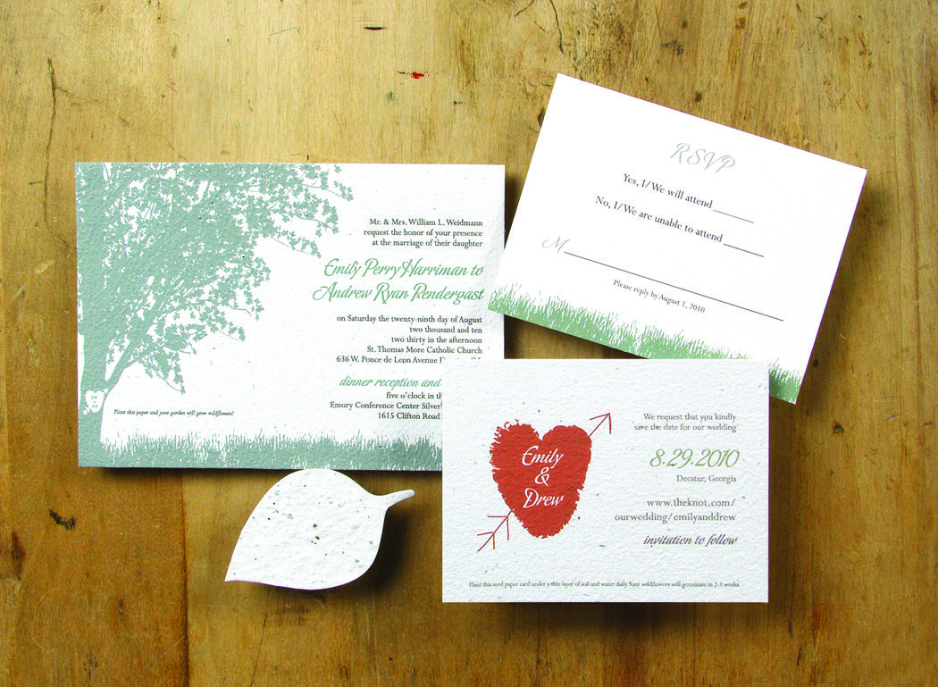 Wedding invitations on seed paper you can plant. | Gettin\' Hitched ...