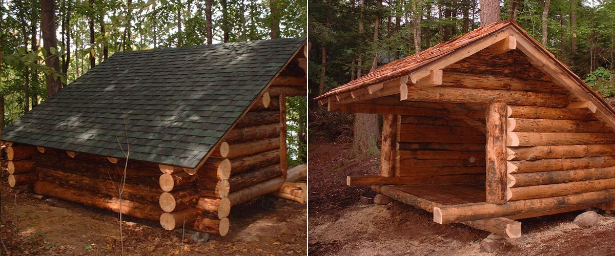 Rustic Cabins In The Woods Custom Built Adirondack Lean Tos Buildings And Structures