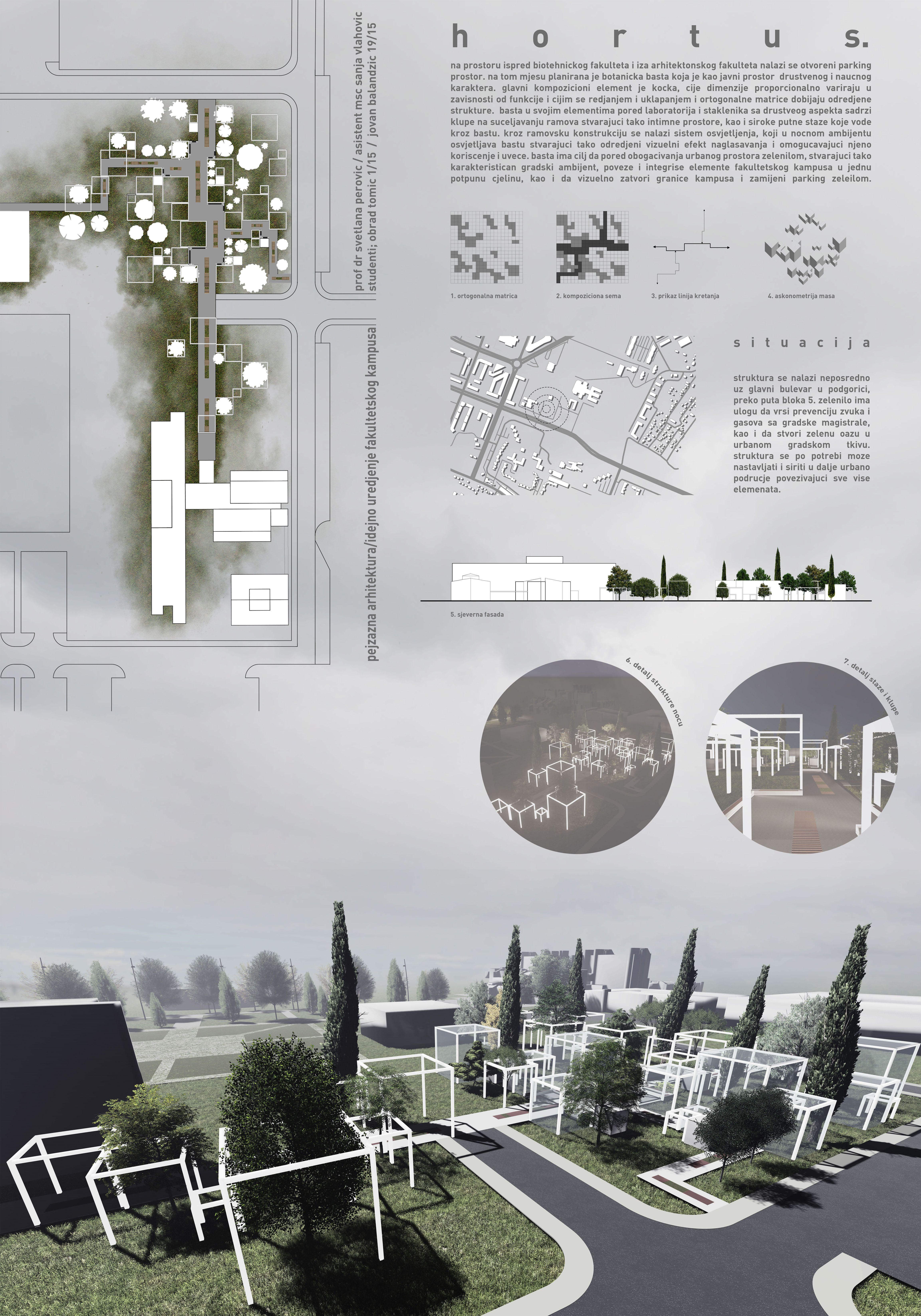 Landscape Architecture Presentation Board Monte Faculty Campus