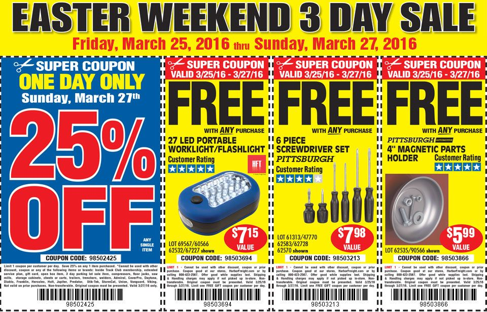 Harbor Freight Coupons, Promo Codes & Deals 2017   Coupons ...