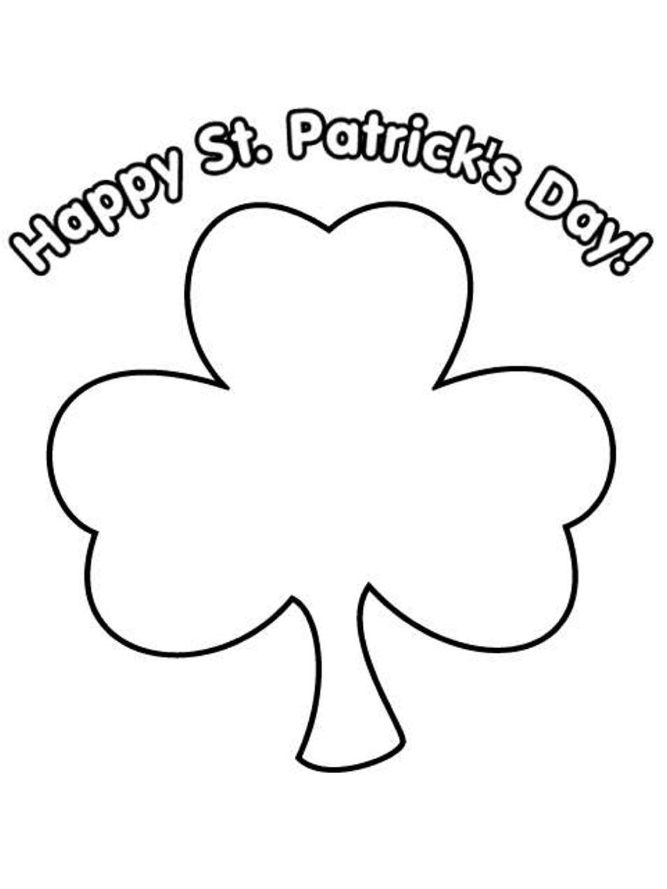 Printable Shamrock Coloring Pages St Patricks Day Crafts For