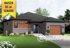 Superbe plain-pied contemporain - Plan de Maison unifamiliale W3281 ...