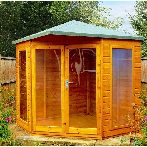 Sol 72 Outdoor Willesden 7 X 7 Ft Shiplap Summer House In 2019 Wood Cladding Shiplap Cladding She Shed Decorating Ideas