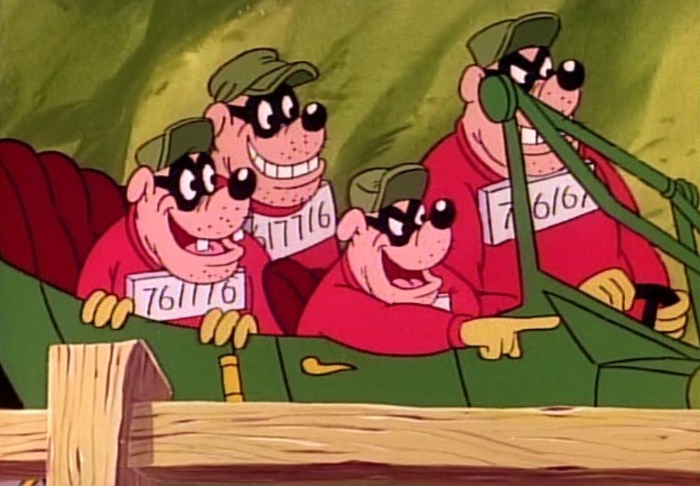 The Beagle Boys Burger Baggy Big Time Bouncer In Their
