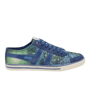 Look what I found on #zulily! Navy & Green Comet Galaxy Sneaker by Gola #zulilyfinds