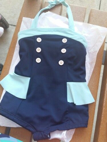Hazel's adorable new swim suit for this summer! I can't get over how adorably vintage chic it is! From Janie and Jack #janieandjack #mykidisthecutestever
