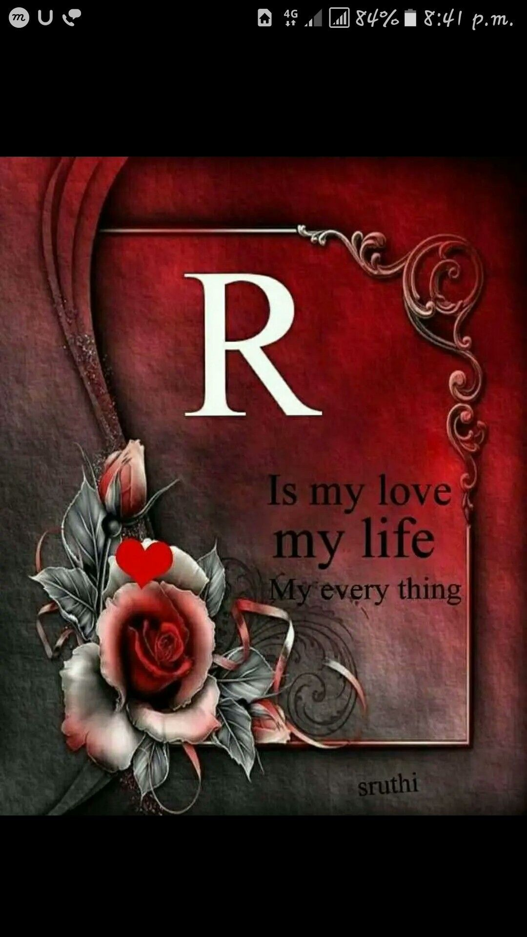 My Love Alphabet Wallpaper Flowery Wallpaper Name Wallpaper