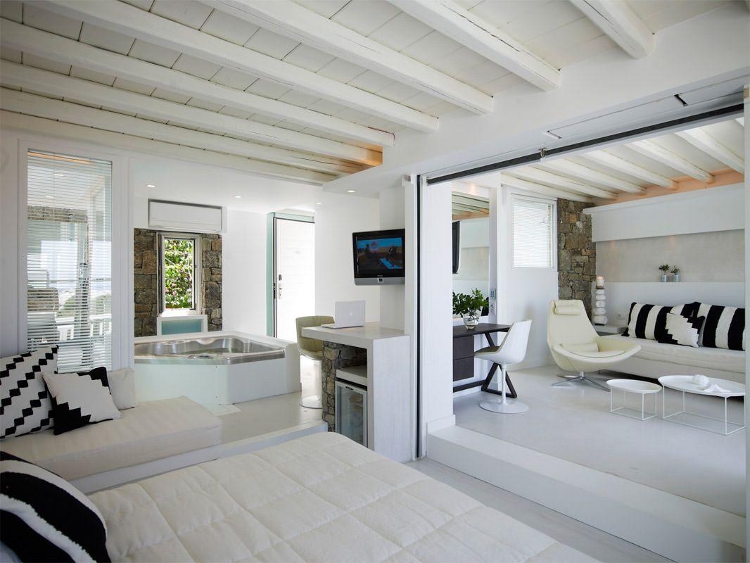 Luxury Mykonos Hotel Photos Semeli Best Hotel Mykonos Indoor Jacuzzi Luxury Rooms Indoor Hot Tub