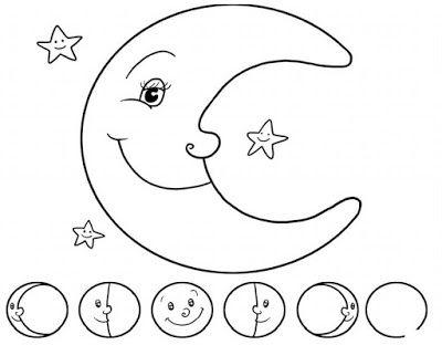 4 Fases De La Luna Para Colorear Buscar Con Google Con Imagenes