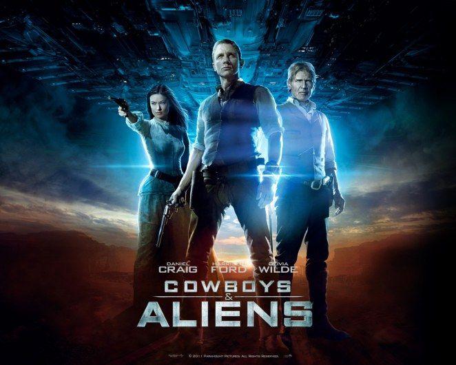 Cowboys Aliens 2011 Cowboys Aliens Aliens Movie Japan Movie Poster