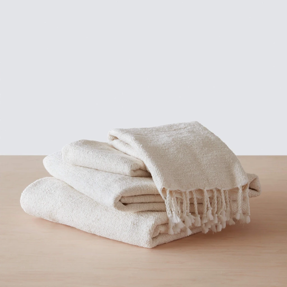 Farah Towels Cream Egyptian Cotton Towels Cotton Towels