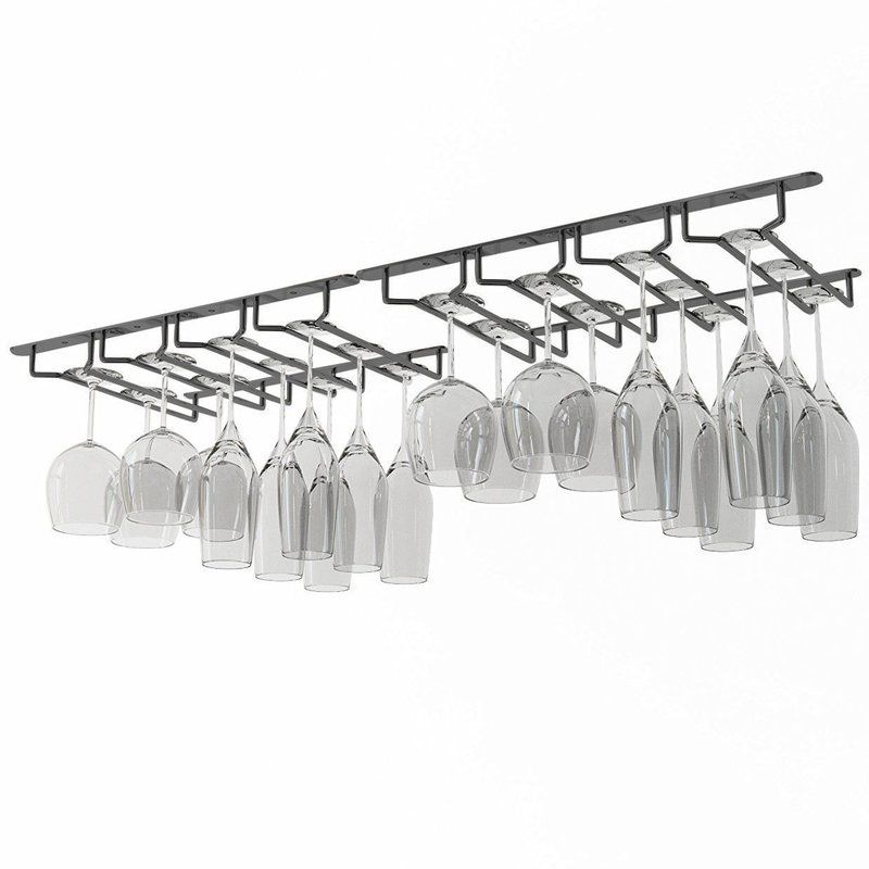 Kiara Under Cabinet Hanging Wine Glass Rack Wine Glass Hanger Wine Glass Rack Glass Rack
