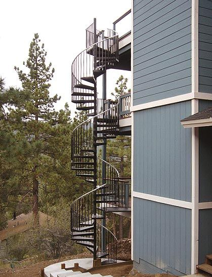 3 Story Spiral Stair By The Iron Shop Crazy Houses Spiral   The Iron Shop Spiral Staircase   Stairs Built   Loft Staircase   Attic Loft   Staircase Ideas   White Spiral