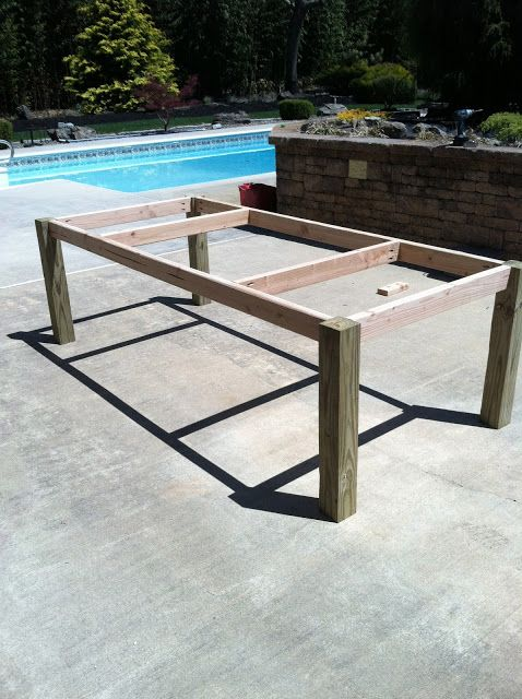 Building my own outdoor wood farm table craft ideas for Farm table legs diy