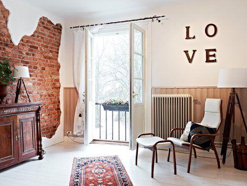 decoración paredes de ladrillo visto face brick wall decoration - decoracion de paredes