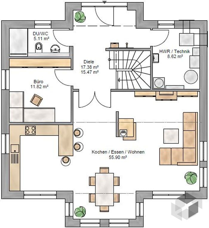 Dieses und viele h user mehr gibt es auf for Bauplan wohnhaus