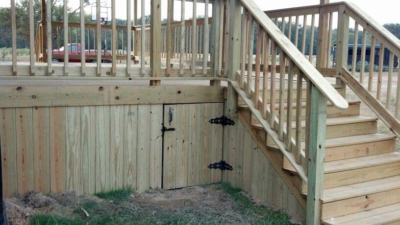 Under Deck Access Door Deck Storage Under Decks Deck Issues