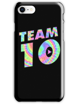 Team 10 Tye Dye Jake Paul iphone case