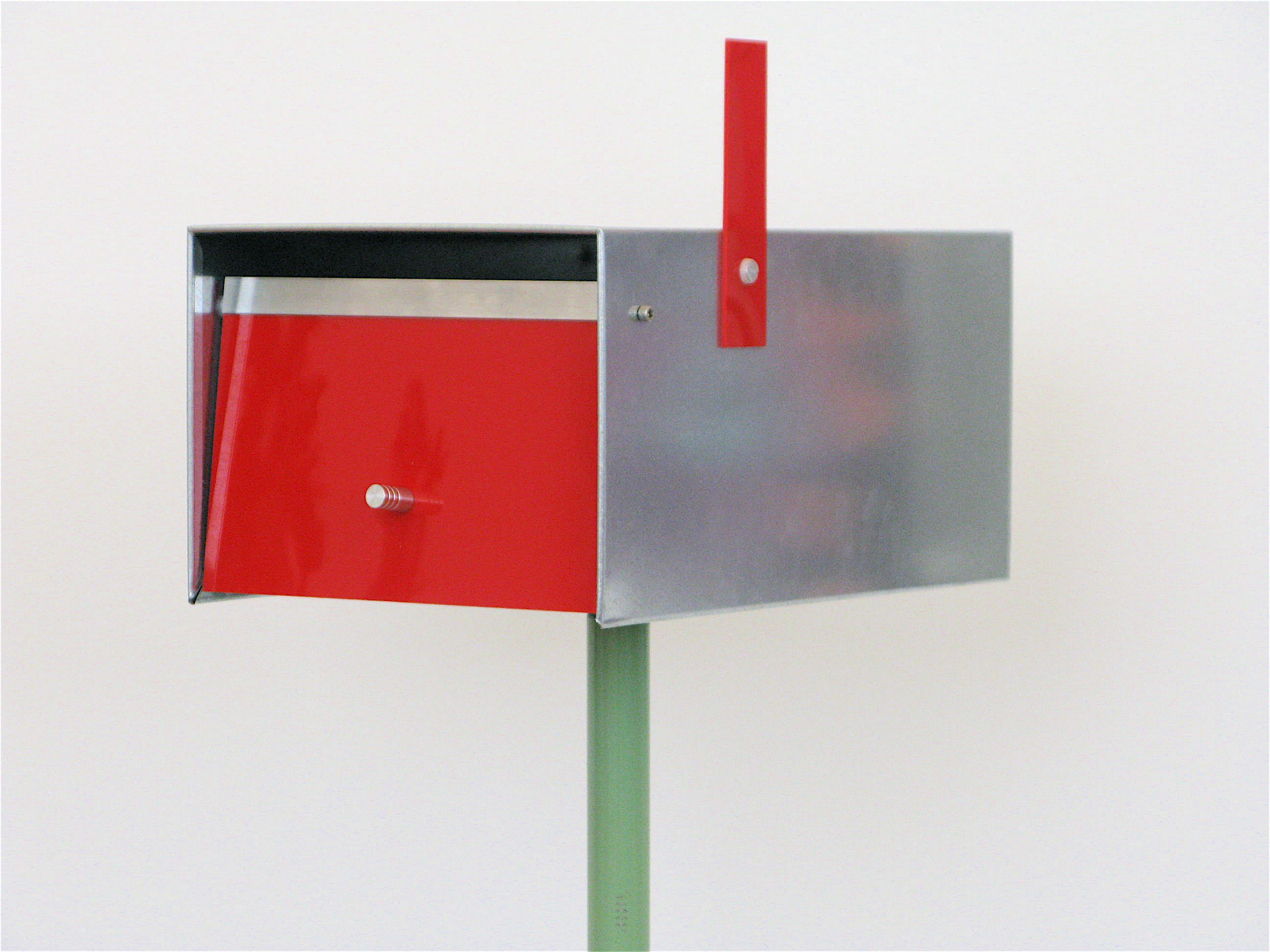 Mailboxes Modern  Interesting, Modern, Minimalist Mailbox On Post —  Livemodern: Your