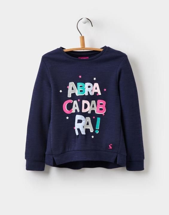 e69d86954e51 Joules Mart Younger Girls Screen-print Sweatshirt 1-6yr - Little ...