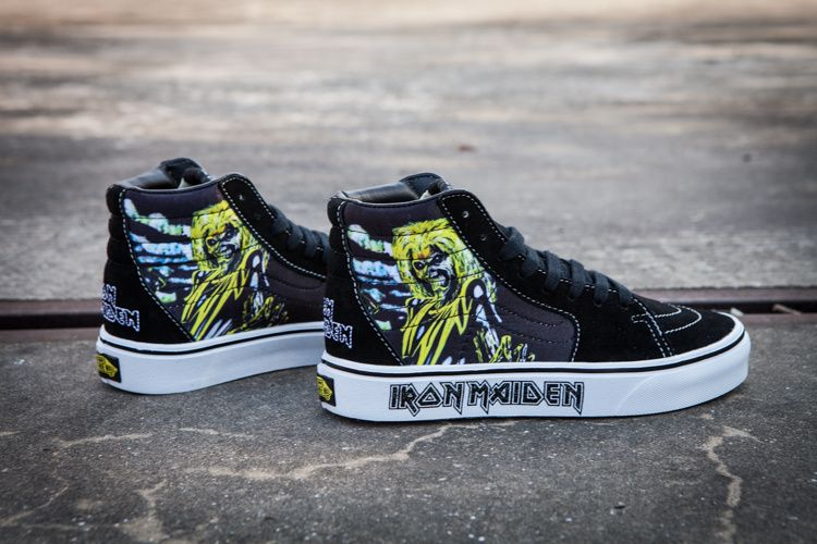 e9e7e275db7 Fans Vans iron maiden Sk8-hi iron lady band joint version of high- board  shoes  Y01   Vans