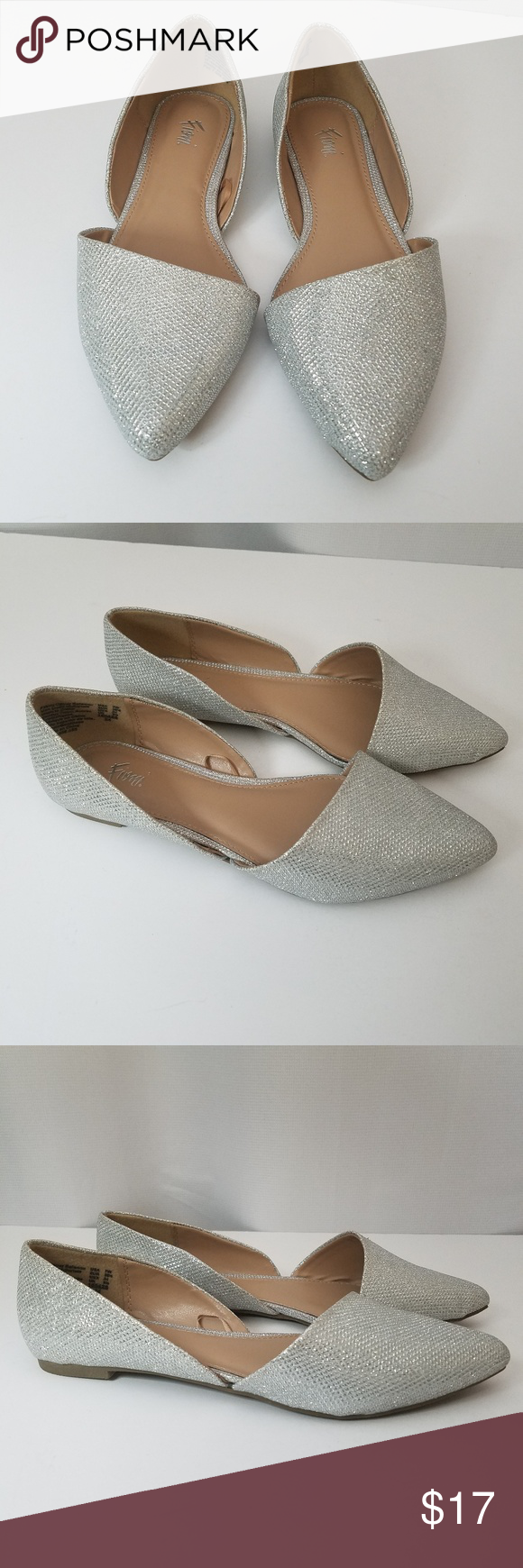 8f8b3315d5d Fioni Size 7.5M Sparky Silver Flats Fioni shoes are in very good condition.  FIONI Clothing Shoes Flats   Loafers