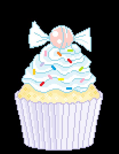 Cupcake Pixel Art Pixel Art Food Cute Doodles