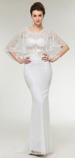 Mermaid Round Neck Wrap Sweetheart Tulle Long Prom Dresses With Beading,FPPD312 #promdresses