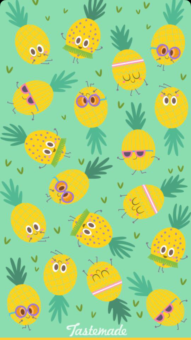 Wallpaper Backgrounds Iphone Wallpapers Cute Patterns Phone Cellphone Snapchat Pineapple