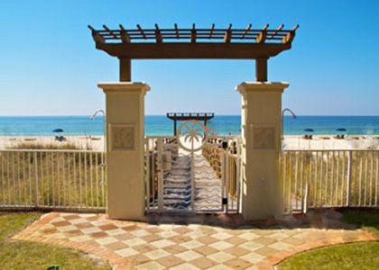 Shores Of Panama Beautiful Beach Entry Gate Panama City Beach Fl Panama City Beach Panama City Panama