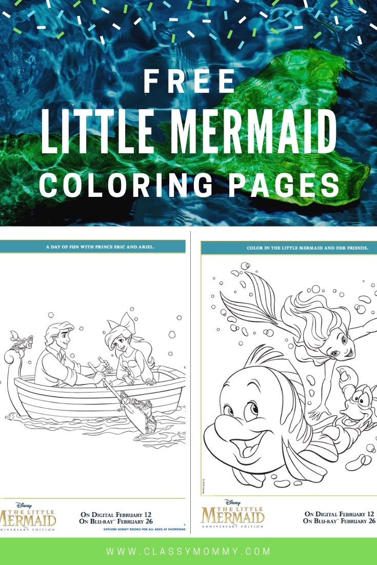 Free Printable Little Mermaid Coloring Pages Littlemermaidbluray Classy Mommy Mermaid Coloring Pages Free Disney Coloring Pages Disney Coloring Pages [ 1102 x 735 Pixel ]