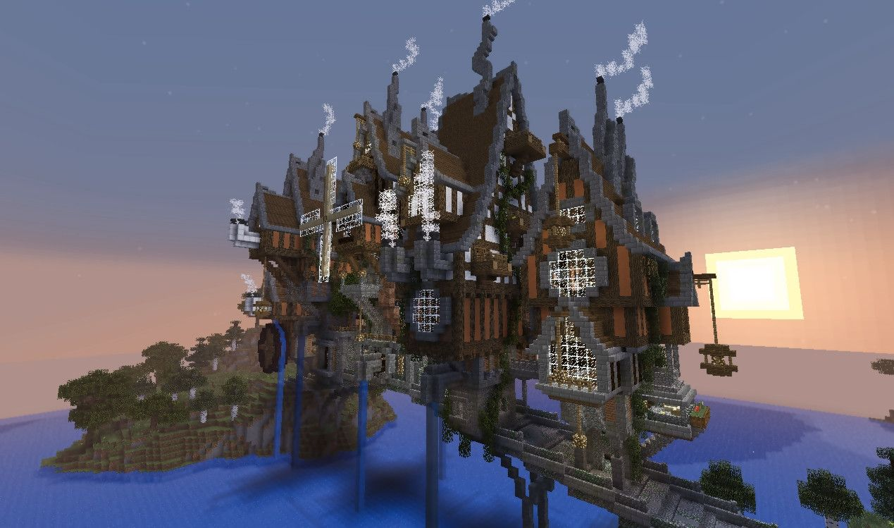 Steampunk Crafts | Steampunk Minecraft Bridge | Minecraft ...