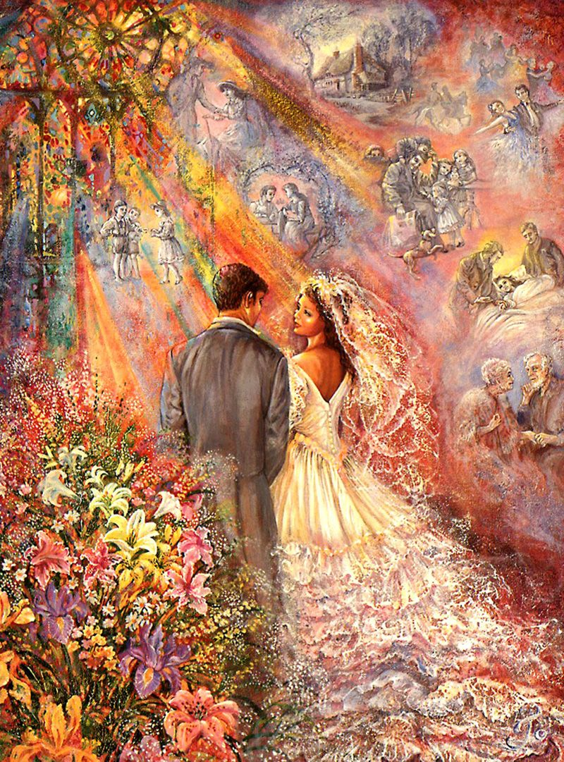 """The Wedding 1"" par Josephine Wall"