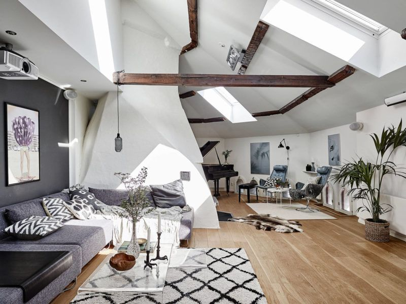 Fantastic attic apartment for a dreamy Monday For the Home