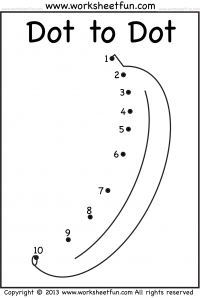 Dot to Dot – Numbers 1-10 – Eight Worksheets