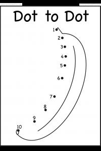 Dot To Dot Numbers 1 10 Eight Worksheets Banana Giraffe