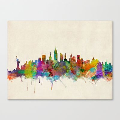 New york skyline by michael tompsett ready to hang canvas wall art