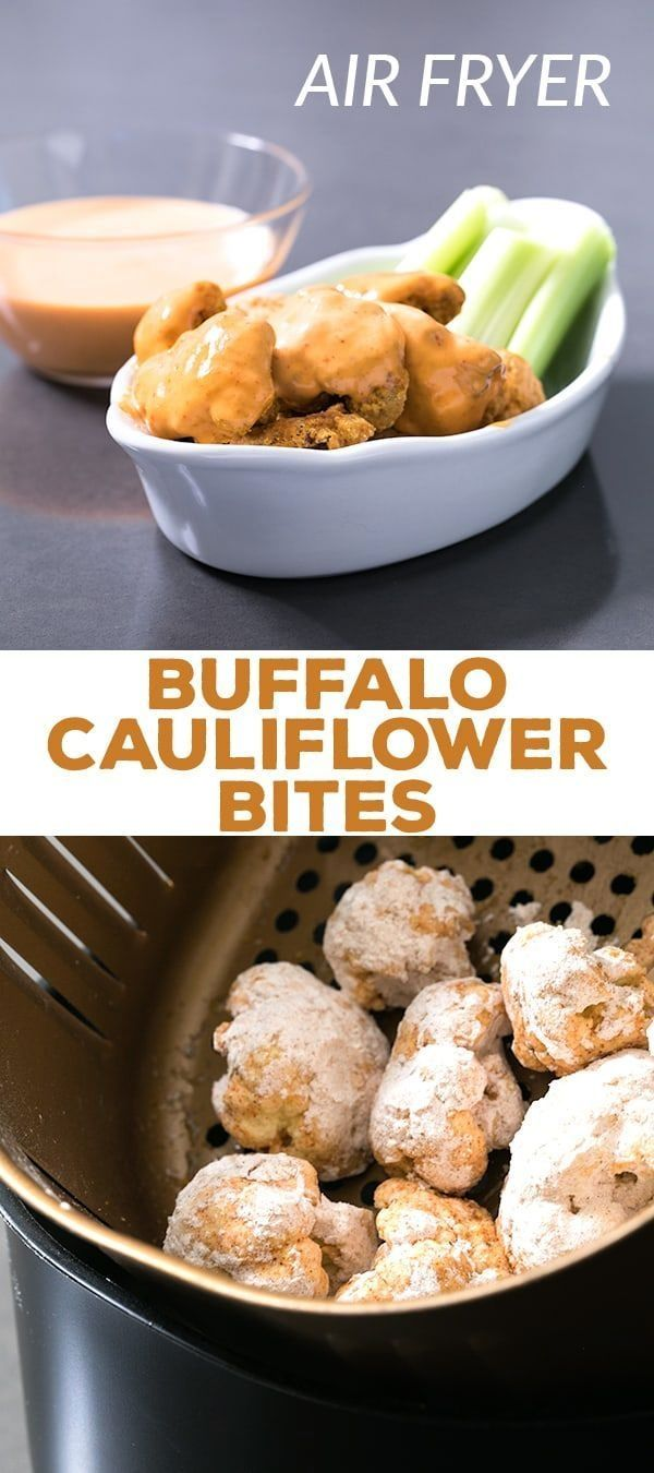 This easy recipe for buffalo cauliflower bites is made in