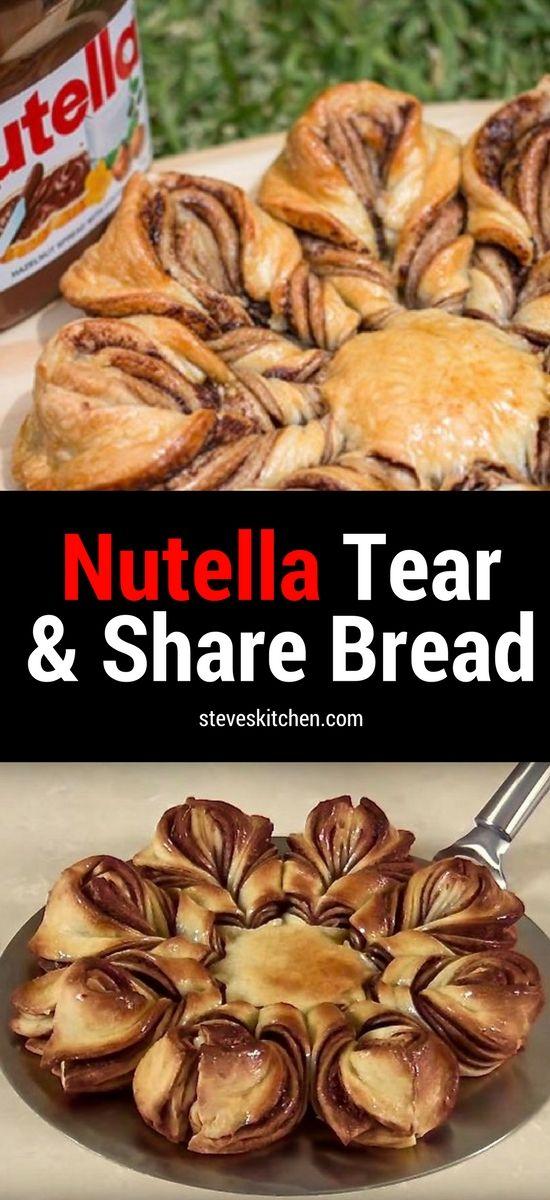 Nutella Braided Tear And Share Bread #tearandsharebread