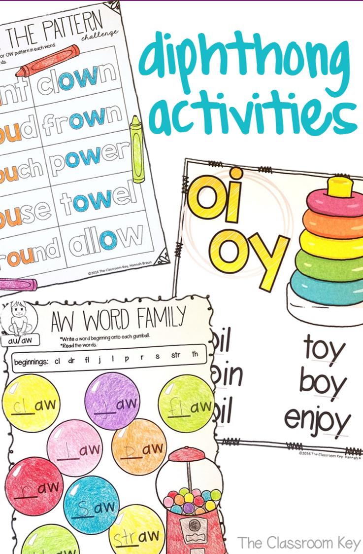 worksheet Oi And Oy Worksheets diphthongs activities worksheets aw au ow ou oi oy oo 2nd grade phonics