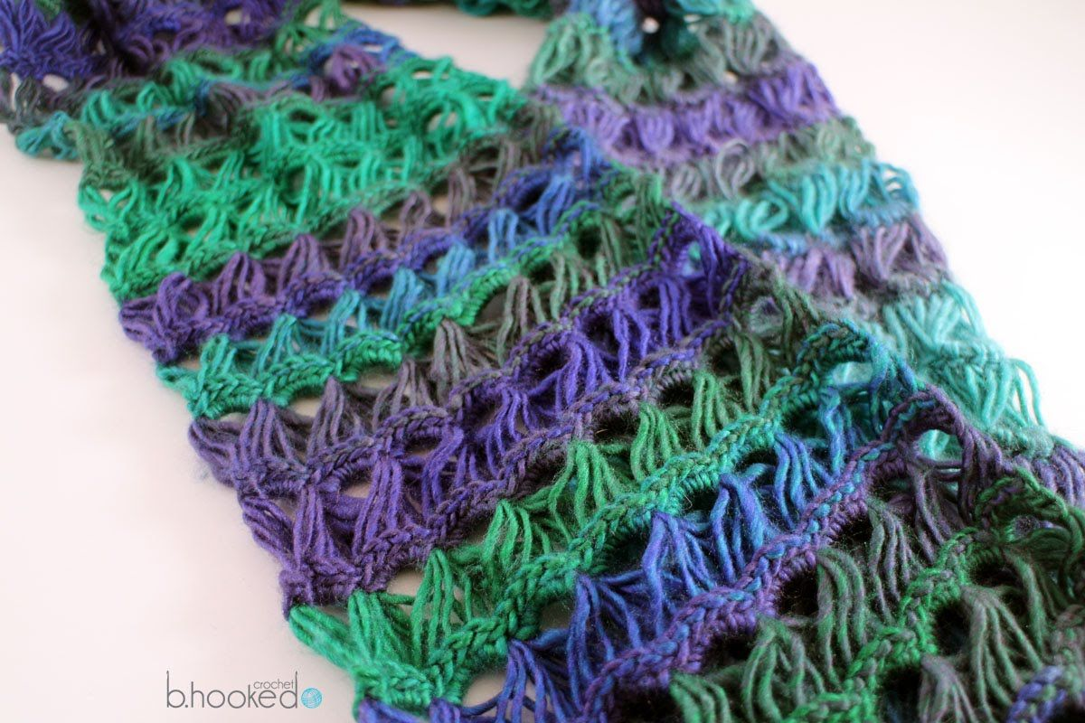 How to Crochet a Scarf: Broomstick Lace Infinity Scarf Free Crochet ...