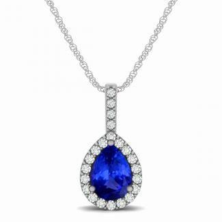 55ct pear tanzanite pendant with 176ctw diamonds in 14k white 55ct pear tanzanite pendant with 176ctw diamonds in 14k white gold aloadofball Gallery