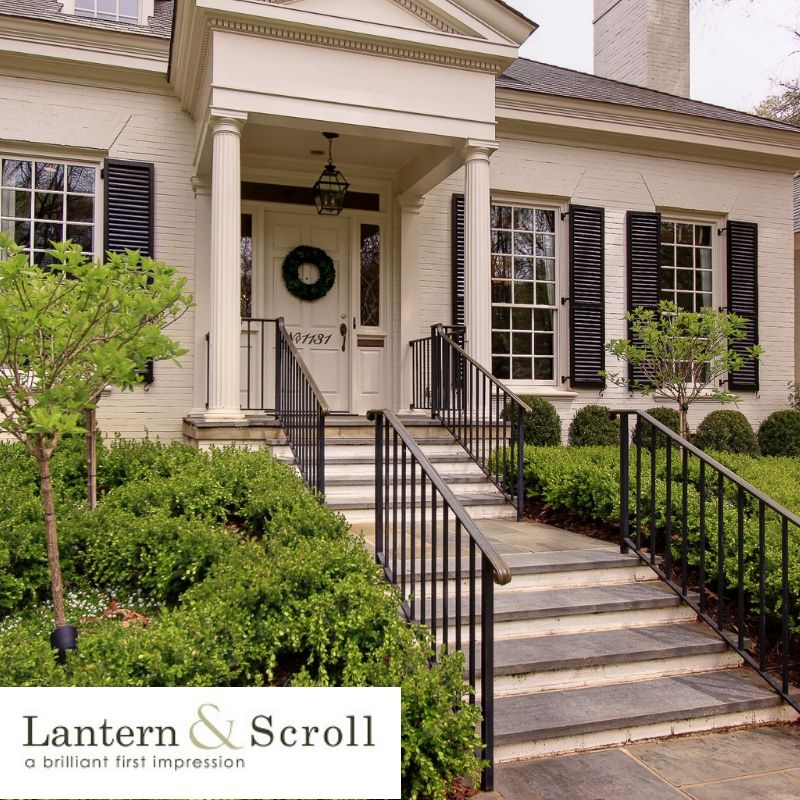 Landen Blackened Bronze Metal Lanterns Front Porch Decorating