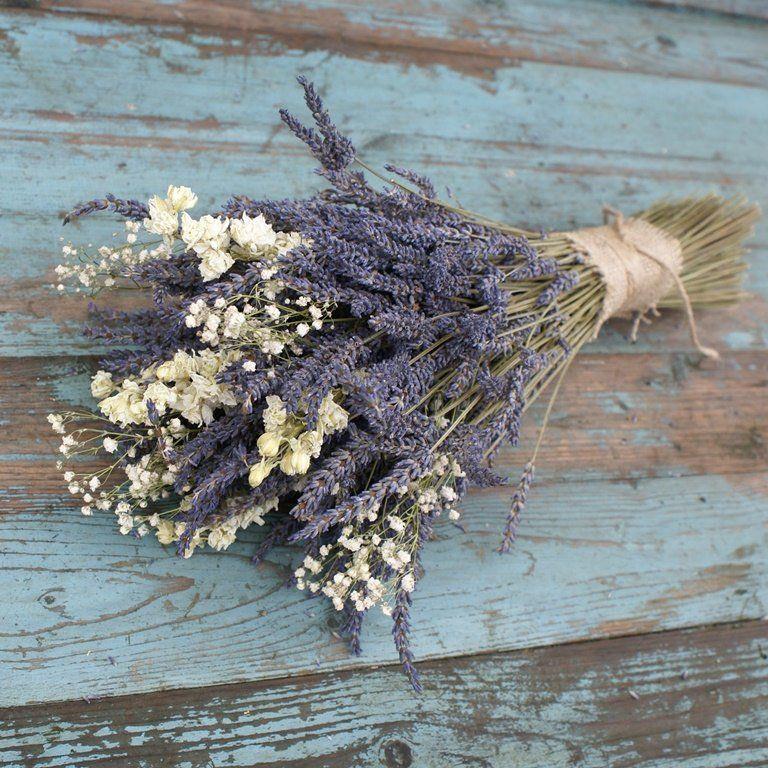 Lavender White Dried Flower Bouquet
