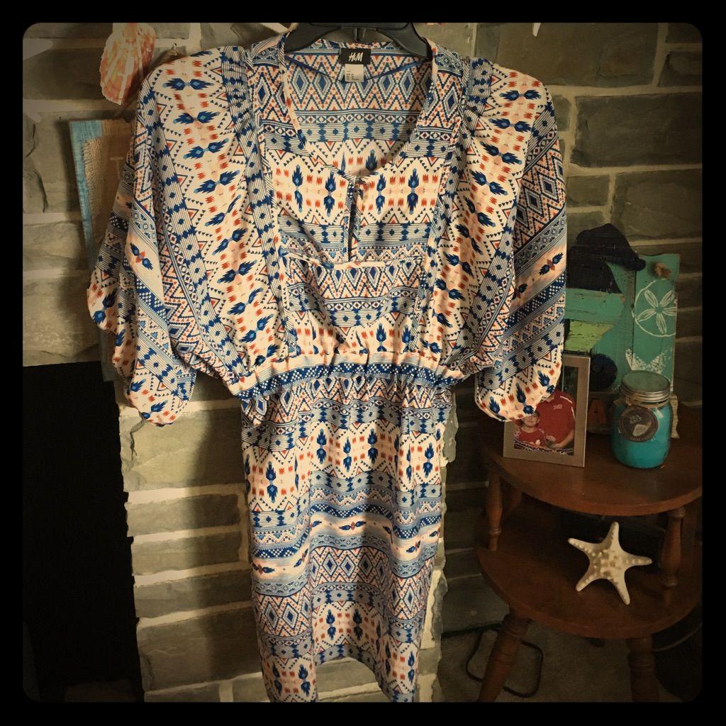 Hum aztec print summer dress sz products