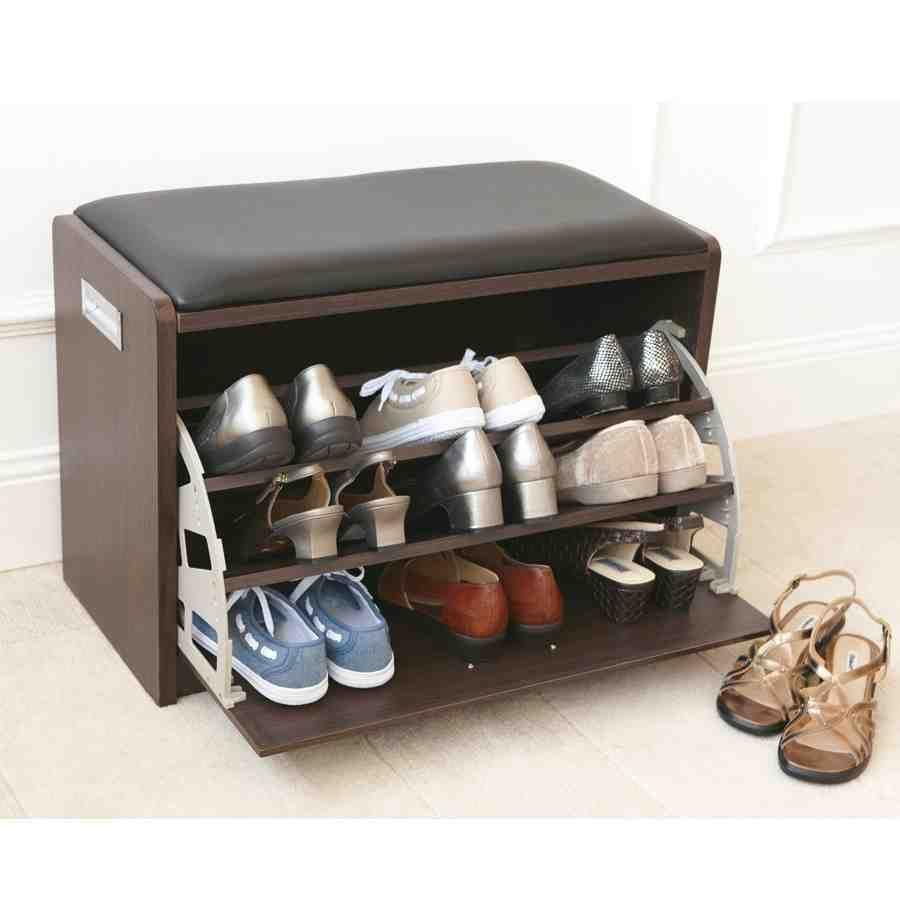 Hidden Storage Shoe Bench