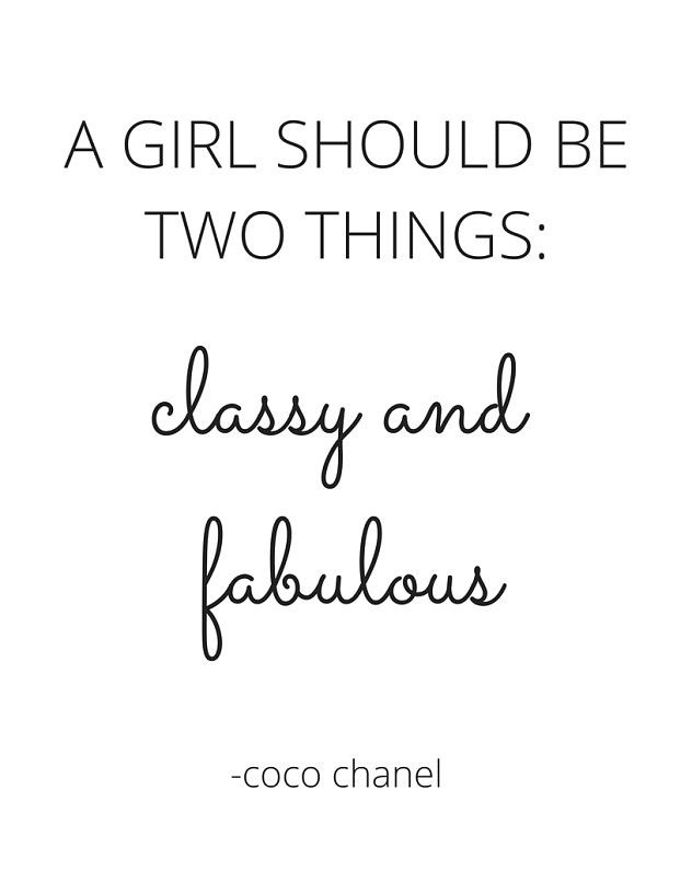 free 8 5 x 11 printable coco chanel quote printable. Black Bedroom Furniture Sets. Home Design Ideas
