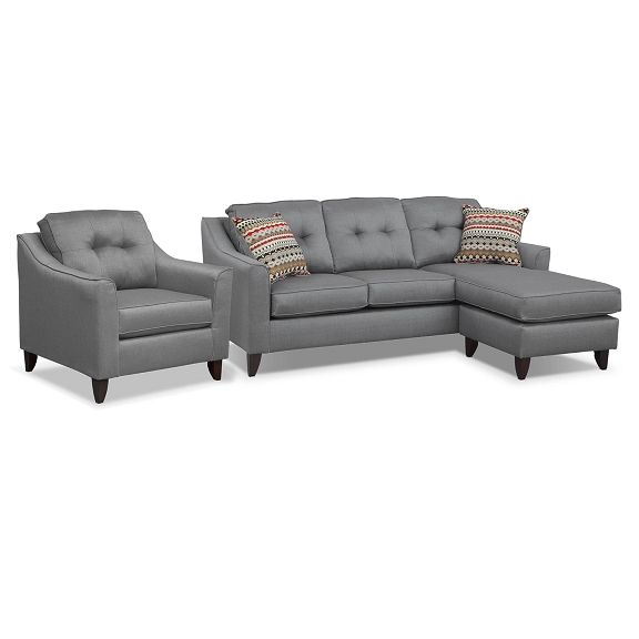 Cool Marco Gray Sectional Living Room Collection American Ncnpc Chair Design For Home Ncnpcorg